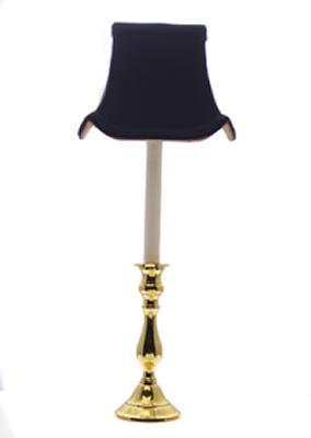 Eurocraft Silk Pagoda Candleholder Buffet Lamp-Black  Buffet Lamp