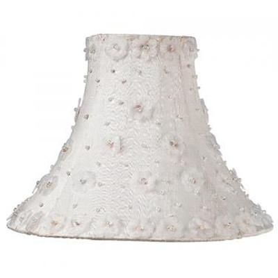 Jubilee Collection White Pearl Flower Medium Shade  Kids Lamps and Shades
