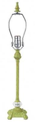 Jubilee Collection Medium Scroll Glass Ball Base Pistachio Kids Lamps and Shades