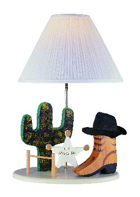 Lite Source Inc Cowboy Lamp  Kids Lamps and Shades
