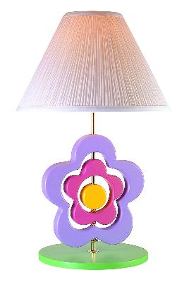 Lite Source Inc Hippie Spinning Flower Lamp  Kids Lamps and Shades