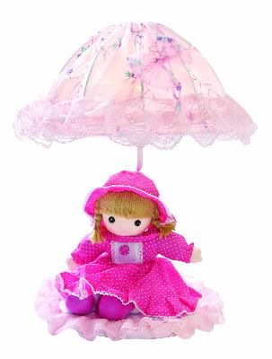 Lite Source Inc Baby Doll Lamp - Pink  Kids Lamps and Shades