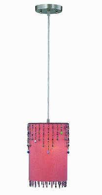 Lite Source Inc Shaggie Pendant Light - Orange  Kids Lamps and Shades