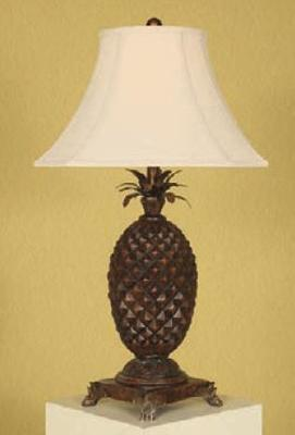 Mario Lamps Carved Pineapple Table Lamp Cut Corner Beige Linen Shade Search Results