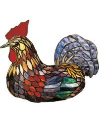 Tiffany Rooster Accent Lamp by