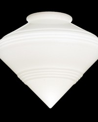 9in W Revival Schoolhouse Deco Cone 4in  Neck Shade by