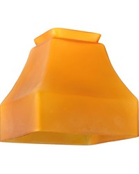 5in Sq Bungalow Frosted Amber Shade by