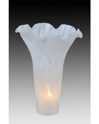 4in W X 6in H WHITE POND LILY SHADE by