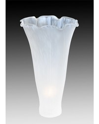 3in W X 5in H WHITE POND LILY SHADE by