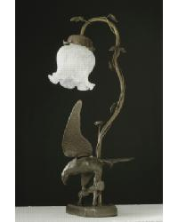 Eagle On Tree Limb Table Lamp by