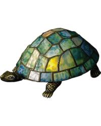 Turtle Tiffany Glass Accent Lamp by