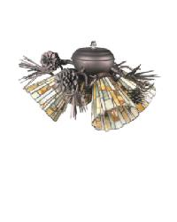 Jadestone Delta 4 Lt Fan Light Fixture by