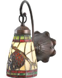 Pinecone Dome Wall Sconce by