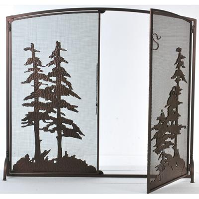 Meyda Tiffany Tall Pines Operable Door Arched Fireplace Screen Mahogany Bronze Search Results