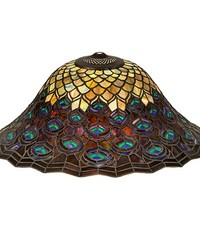20in W Tiffany Peacock Feather Shade by