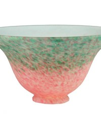 7.5in W PINK GREEN PATEDEVERRE BELL SHADE by