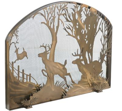 Meyda Tiffany Deer On The Loose Arched Fireplace Screen Antique Copper Mesh Search Results
