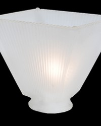 4in SQ MISSION GLASS SHADE by