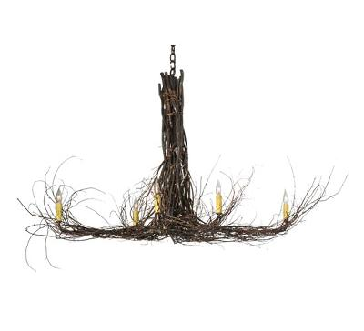 Meyda Tiffany Twigs Six Light Chandelier Mahogany Bronze/Natural Twigs Search Results