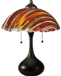 Marina Fused Glass Table Lamp by