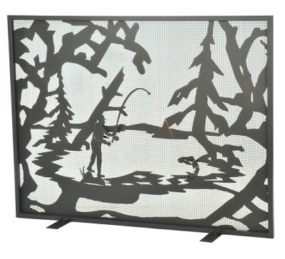 Meyda Tiffany Fly Fishing Creek Fireplace Screen Wrought Iron Search Results