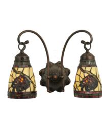 Burgundy Pinecone 2 Lt Wall Sconce by
