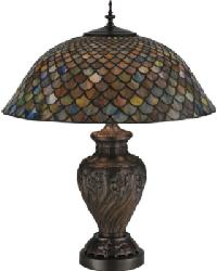 Tiffany Fishscale Table Lamp by