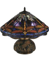 Tiffany Dragonfly Cone Table Lamp by