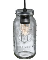 Mason Jar 2 Qt Mini Pendant by