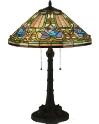 Tiffany Floral Table Lamp by