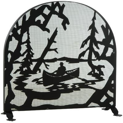 Meyda Tiffany Canoe At Lake Arched Fireplace Screen Black Mesh Search Results