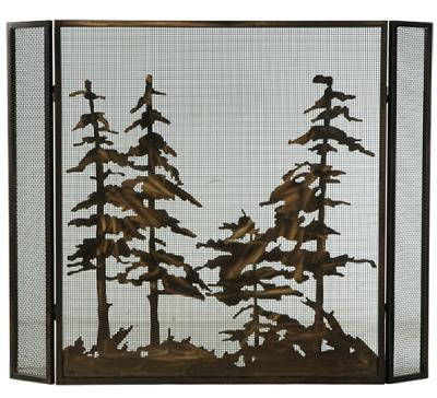 Meyda Tiffany Tall Pines Folding Fireplace Screen Antique Copper Mesh Search Results
