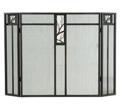 Meyda Tiffany Pine Branch Glass Folding Fireplace Screen Wrought Iron Mesh Search Results