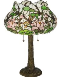 Dragonfly Flower Table Lamp by