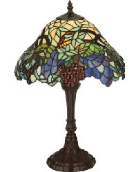 Spiral Grape Accent Lamp by