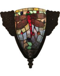 Tiffany Hanginghead Dragonfly Wall Sconce by