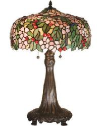 Tiffany Cherry Blossom Table Lamp by