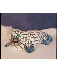 Tiffany Seal Accent Lamp by