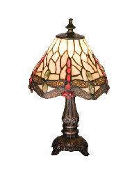 Tiffany Scarlet Dragonfly Mini Lamp by