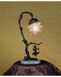 Cherub On Swing Accent Lamp by