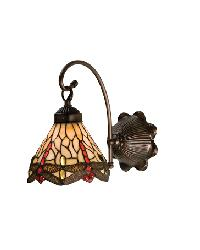 Tiffany Scarlet Dragonfly 1 Lt Sconce by
