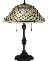 Diamond and Jewel Table Lamp by