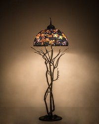 75in H Tiffany Magnolia Floor Lamp by