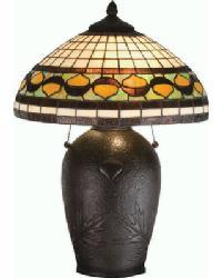 Tiffany Acorn Table Lamp by