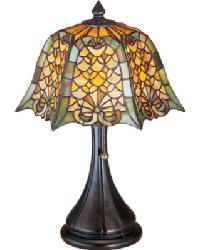 Duffner and Kimberly Shell and Diamond Accent Lamp by