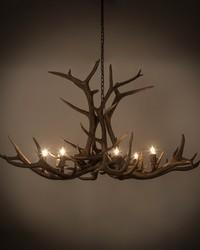 66in  Wide Antlers Elk 8 LT Chandelier by
