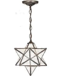 Moravian Star White Pendant by