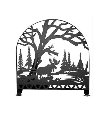 Meyda Tiffany Moose Creek Arched Fireplace Screen Black Search Results