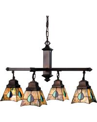 Mackintosh Leaf 4 Lt Chandelier by