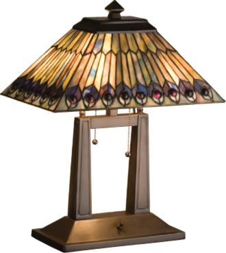 Meyda Tiffany Tiffany Jeweled Peacock Oblong Desk Lamp  Search Results